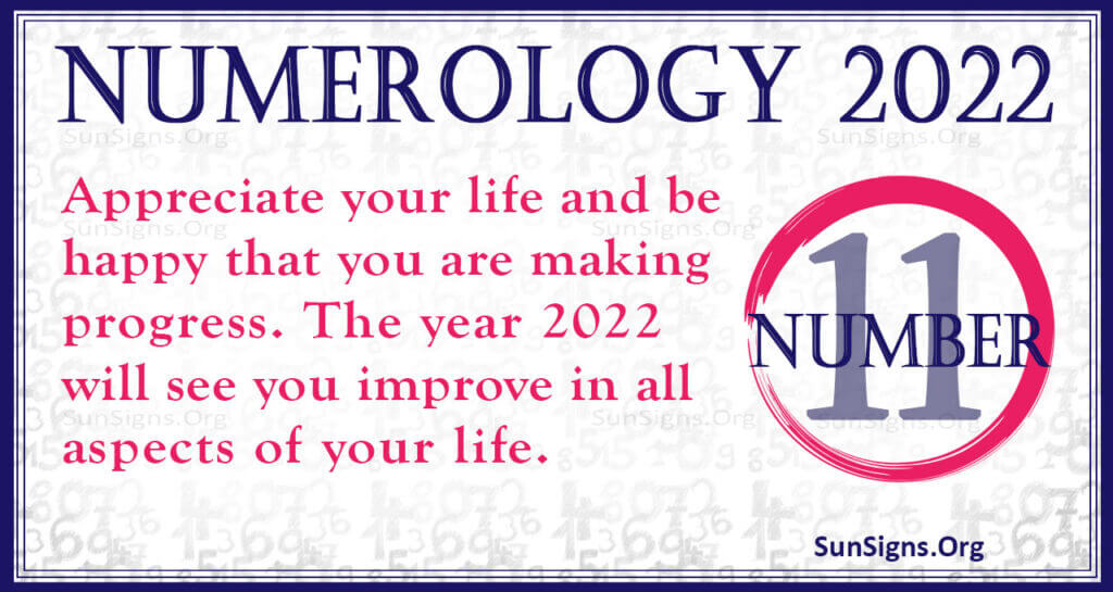numerology number 11 2022