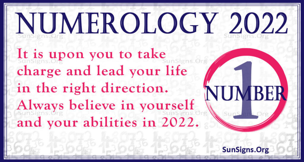 numerology number 1 2022