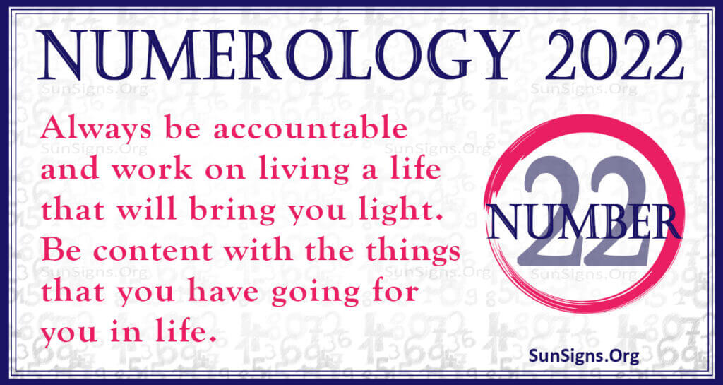 numerology number 22 2022