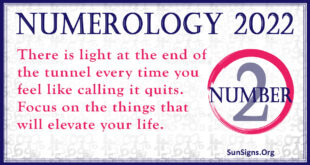 numerology number 2 2022