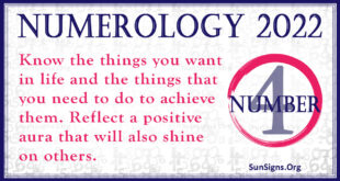 numerology number 4 2022