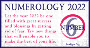 numerology number 6 2022