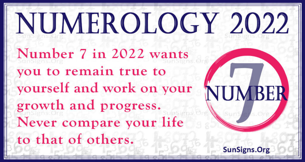 numerology number 7 2022
