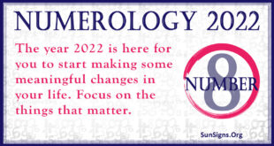 numerology number 8 2022