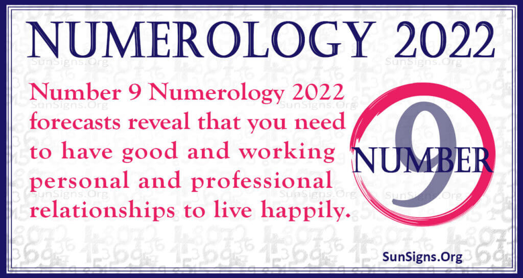 numerology number 9 2022