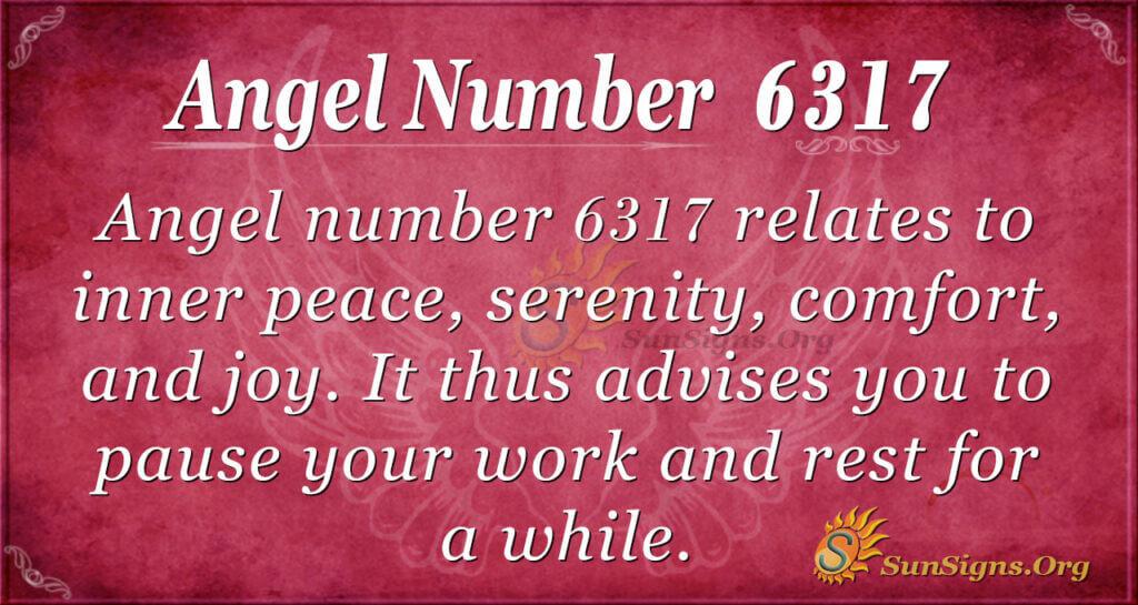 6317 angel number
