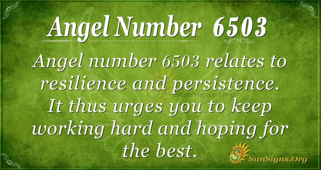 6503 angel number