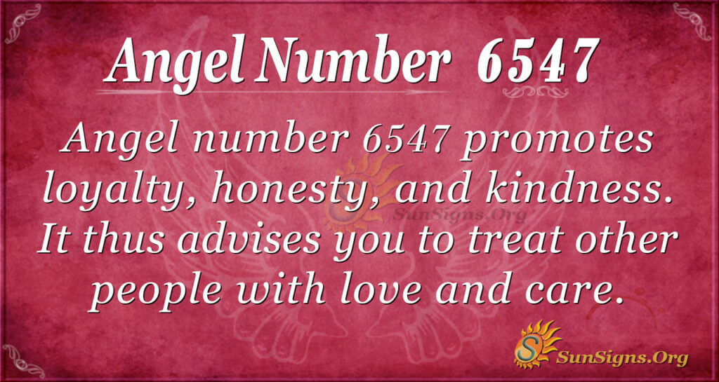 6547 angel number