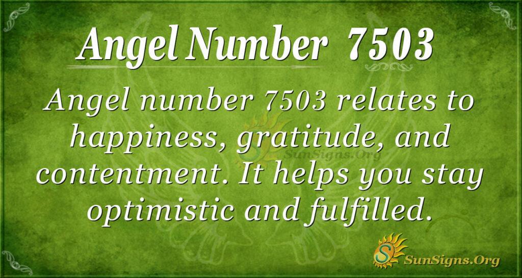 7503 angel number