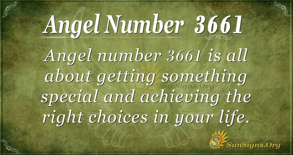 3661 angel number