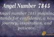 7845 angel number