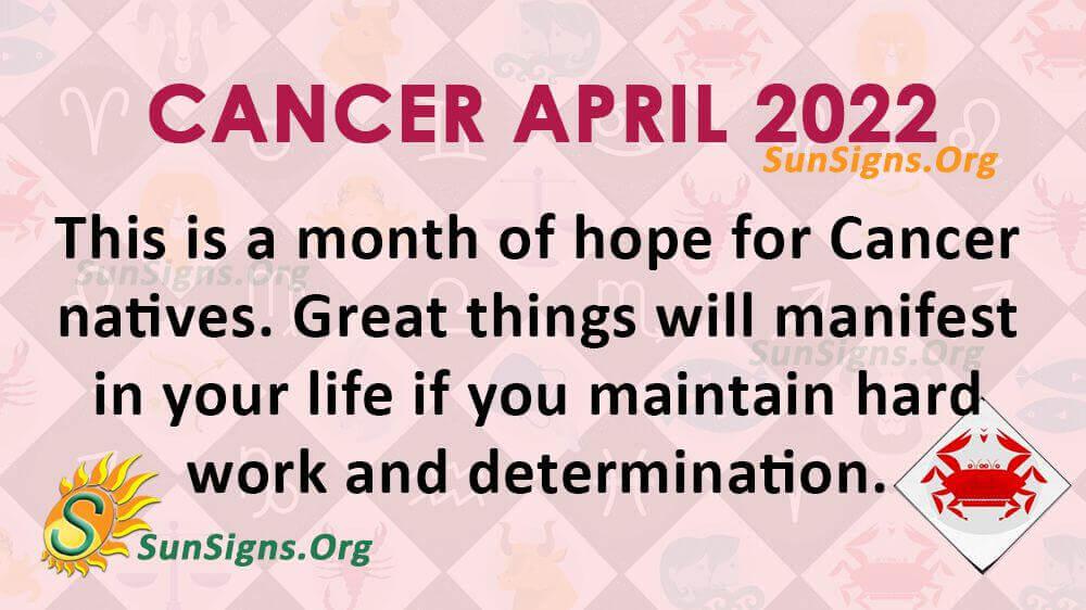cancer april 2022