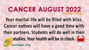 cancer august 2022