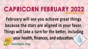 capricorn february 2022