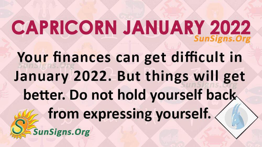 capricorn january 2022