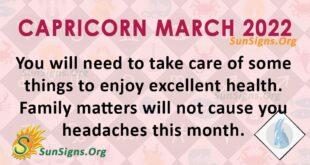 capricorn march 2022