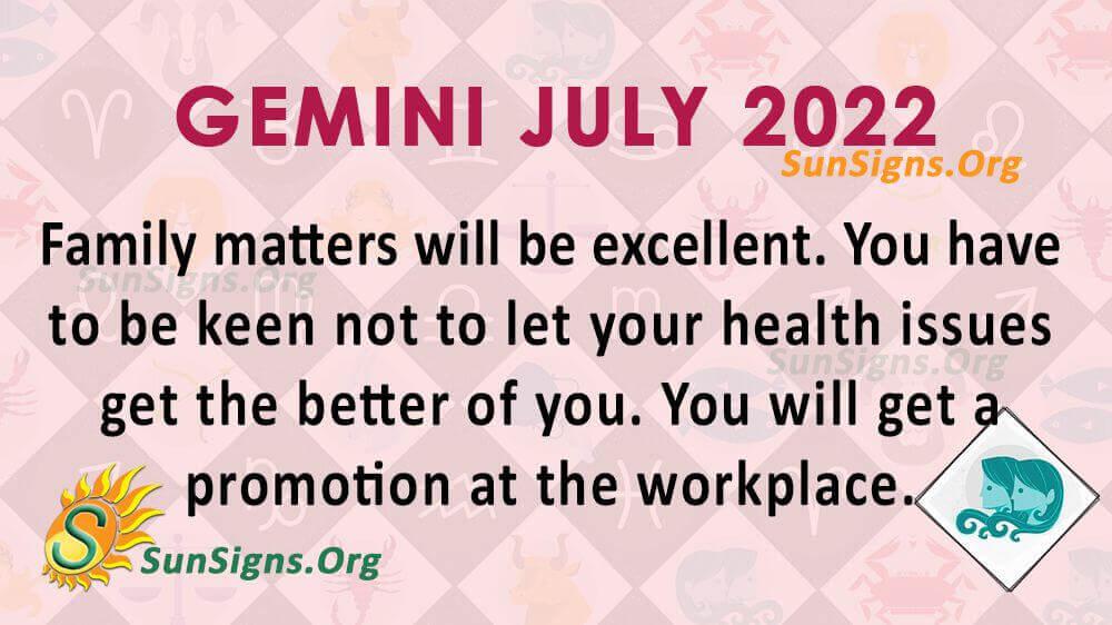 gemini july 2022