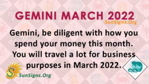 gemini march 2022
