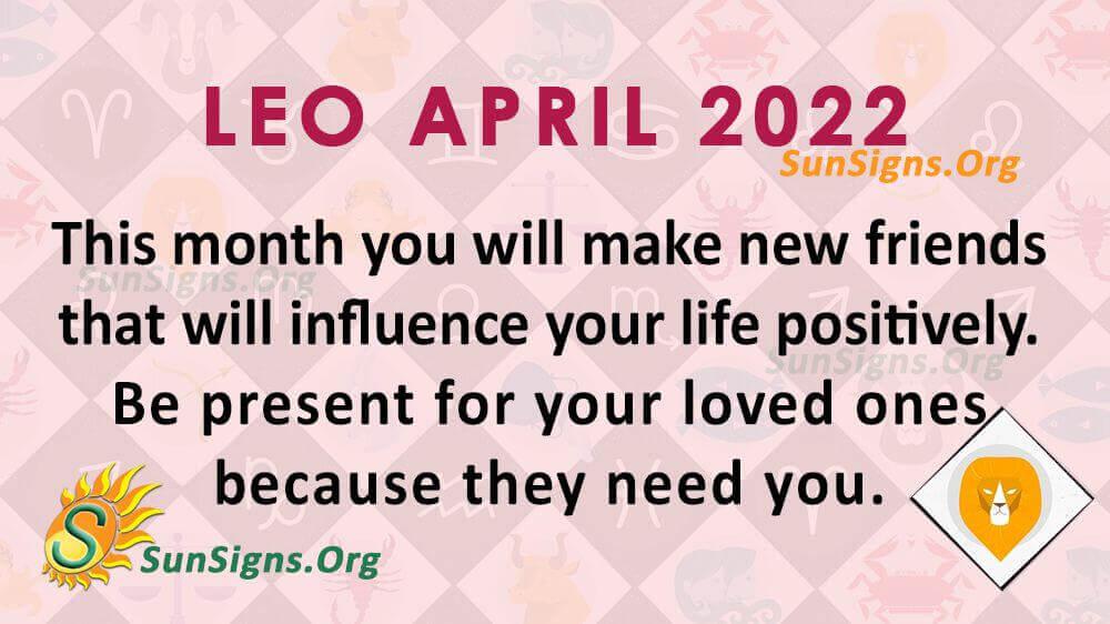 leo april 2022
