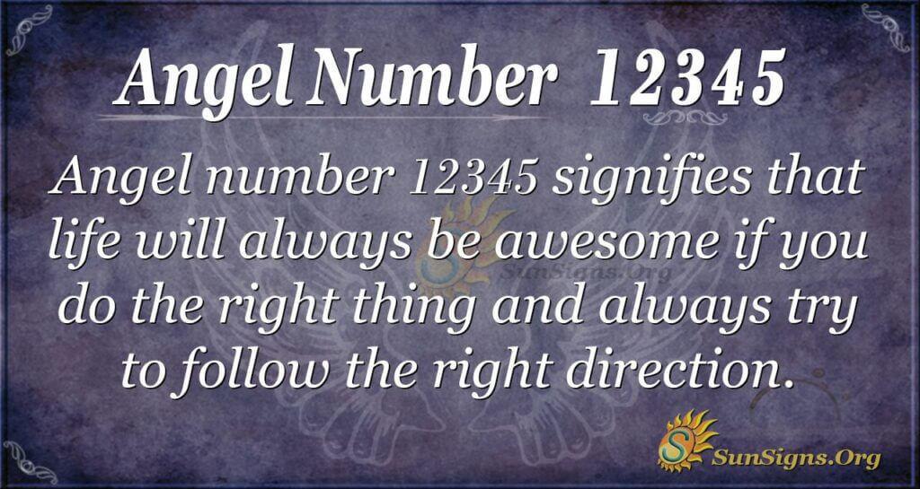 12345 angel number