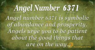 6371 angel number