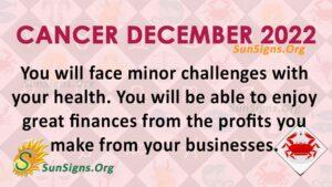 cancer december 2022