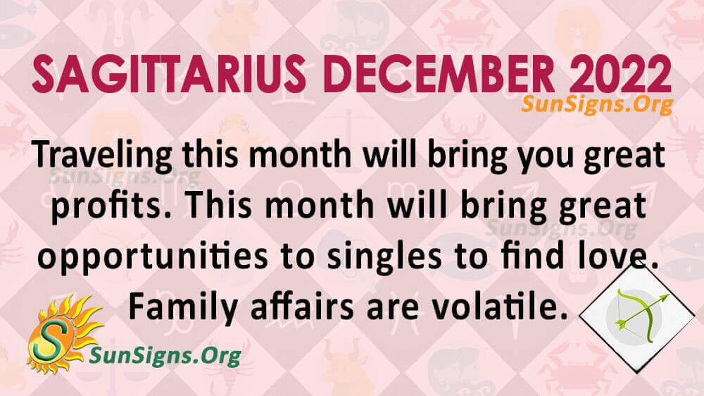 sagittarius december 2022